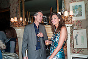 GEOFF DYER; OLIVIA COLE; , Dylan Jones hosts a party for Brett Easton Ellis and his new book.- Imperial Bedrooms. Mark's Club. London. 15 July 2010.  -DO NOT ARCHIVE-© Copyright Photograph by Dafydd Jones. 248 Clapham Rd. London SW9 0PZ. Tel 0207 820 0771. www.dafjones.com.