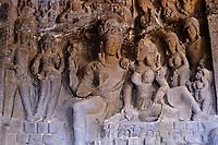 Inde, état de Maharashtra, Ellora, grottes d'Ellora classées au Patrimoine mondial de l'UNESCO, grotte N°21 // India, Maharashtra, Ellora cave temple, Unesco World Heritage, cave N°21