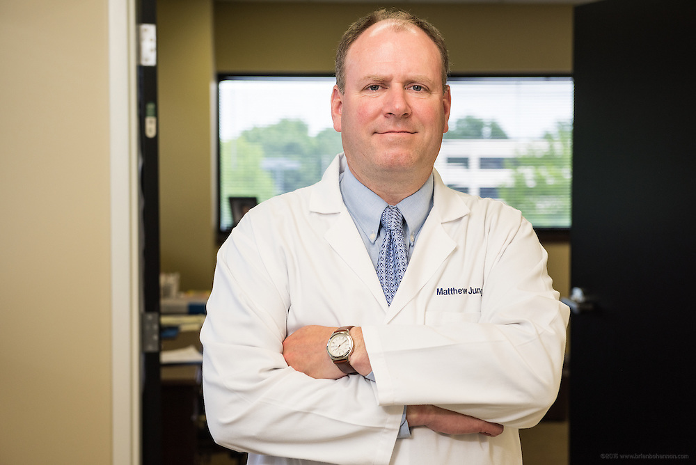 Vascular Surgeon Matthew Jung, MD, photographed Wednesday, May 27, 2015 at Baptist Health in Louisville, Ky. (Photo by Brian Bohannon/Videobred for Baptist Health)