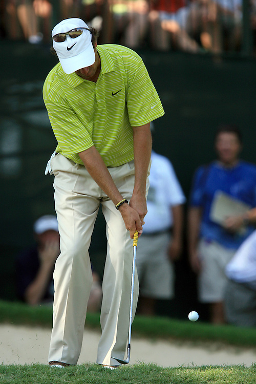 12 August 2007: Stephen Ames chips out of the rough to the 13th green during the final round of the 89th PGA Championship at Southern Hills Country Club in Tulsa, OK.