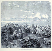 Stone Circle near Bethel From the book 'Those holy fields : Palestine, illustrated by pen and pencil' by Manning, Samuel, 1822-1881; Religious Tract Society (Great Britain) Published in 1874