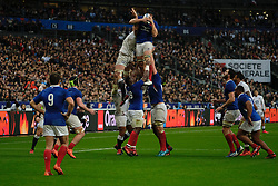 February 2, 2020, Saint Denis, Seine Saint Denis, France: The Flanker of French Team FRANCOIS CROS in action during the Guinness Six Nations Rugby tournament between France and  England at the Stade de France - St Denis - France.. France won 24-17 (Credit Image: © Pierre Stevenin/ZUMA Wire)