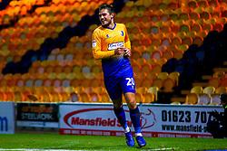 Timi Max Elsnik of Mansfield Town celebrates his winning goal - Mandatory by-line: Ryan Crockett/JMP - 13/11/2018 - FOOTBALL - One Call Stadium - Mansfield, England - Mansfield Town v Scunthorpe United - Checkatrade Trophy