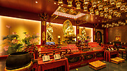 Interior of the Buddha Tooth Relic Temple and Museum, Singapore, Republic of Singapore
