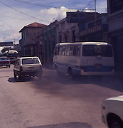 Traffic exhaust pollution Guatemala City, Guatemala, central America,