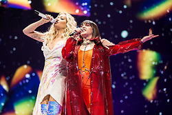 May 28, 2019 - London, United Kingdom of Great Britain and Northern Ireland - Rita Ora and Charli XCX performing at the O2 Arena on May 23 2019 in London  (Credit Image: © Famous/Ace Pictures via ZUMA Press)