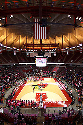 05 February 2016: Halftime is dedicated to a tribute to all cancer patients, victims, and survivors. Illinois State University Women's Redbird Basketball team hosted the Sycamores of Indiana State for a Play4 Kay game at Redbird Arena in Normal Illinois.