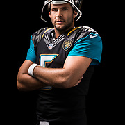 Jacksonville Jaguars quarterback Blake Bortles (5) poses for a portrait during the NFLPA Rookie Premiere on Saturday, May 31, 2014 in Los Angeles. (Ric Tapia/AP Images for NFL Players Inc.)