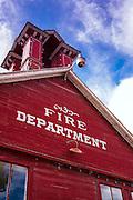 Historic firehouse, Ridgway, Colorado USA