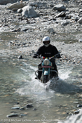 Jonathan Pite made his way through a fun spot as we were beginning to understand water would keep crossing our path on day-4 of our Himalayan Heroes adventure riding from Pokhara to Kalopani, Nepal. Friday, November 9, 2018. Photography ©2018 Michael Lichter.