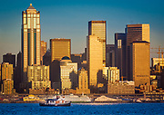 Downtown Seattle and Washington ferries