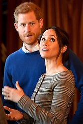Prince Harry and Meghan Markle visit Cardiff Castle on a day showcasing the culture and heritage of Wales in Cardiff, Wales, UK, on the 18th January 2018. Picture by Ben Birchall/WPA-Pool. 18 Jan 2018 Pictured: Prince Harry, Meghan Markle. Photo credit: MEGA TheMegaAgency.com +1 888 505 6342