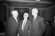 15/11/1966<br /> 11/15/1966<br /> 15 November 1966<br /> Unveiling of Commemorative Plaque for 53 anniversary of the decision to form the Irish Volunteers at Wynn's Hotel, Dublin. Picture shows three embers of the original Provisional Committee of the Volunteers: Mr. Colm O Lochlainn; Eamonn Martin and Liam Gogan.