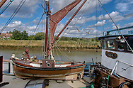 By The Sea - old fishing boat on the river Alde at Snape Maltings Suffolk 2007 by Paul Williams