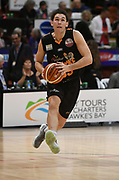 Taylor Hawks Mitch Newton in the Sal's Pizza NBL Round 8 match, Hawkes Bay Hawks vs Auckland Rangers, Pettigrew Green Arena, Napier, Saturday, June 16, 2018. Copyright photo: Kerry Marshall / www.photosport.nz