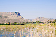 Arbel mountain, as seen from the sea of Galilee, Israel