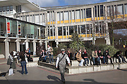 Students on campus University of Essex, Colchester, England