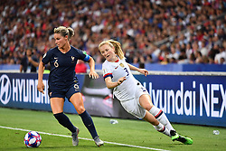 June 28, 2019 - Paris, ile de france, France - Amandine HENRY (Capitain) in action during the second period of the quarter-final between FRANCE vs USA in the 2019 women's football World cup at Parc des Princes in Paris, on the 28 June 2019. (Credit Image: © Julien Mattia/NurPhoto via ZUMA Press)