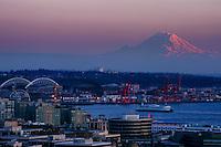 Mount Rainier & Elliott Bay @ Sunset