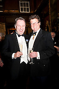 DAVID CLARKE;  SIR TIMOTHY AKROYD, Charity Dinner in aid of Caring for Courage The Royal Scots Dragoon Guards Afganistan Welfare Appeal. In the presence of the Duke of Kent. The Royal Hospital, Chaelsea. London. 20 October 2011. <br /> <br />  , -DO NOT ARCHIVE-© Copyright Photograph by Dafydd Jones. 248 Clapham Rd. London SW9 0PZ. Tel 0207 820 0771. www.dafjones.com.