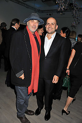 Left to right, RON ARAD and MARC QUINN at Arts for Human Rights gala dinner in aid of The Bianca Jagger Human Rights Foundation in association with Swarovski held at Phillips de Pury & Company, Howick Place, London on 13th October 2011.