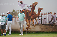 Sebastian Heisele (GER) on the 8th during Round 1 of the Oman Open 2020 at the Al Mouj Golf Club, Muscat, Oman . 27/02/2020<br /> Picture: Golffile | Thos Caffrey<br /> <br /> <br /> All photo usage must carry mandatory copyright credit (© Golffile | Thos Caffrey)