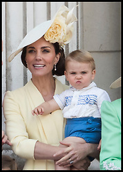 June 8, 2019 - London, London, United Kingdom - Image licensed to i-Images Picture Agency. 08/06/2019. London, United Kingdom. Duchess of Cambridge and Prince Louis  at Trooping the Colour in London. (Credit Image: © Stephen Lock/i-Images via ZUMA Press)