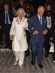 The Prince of Wales and Duchess of Cornwall attend a cultural performance at the Coco Ocean Hotel, The Gambia, at the start of their trip to west Africa.