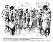 """Little girl (to bride at wedding reception). """"You don't look nearly as tired as I should have thought."""" Bride. """"Don't I, dear? But why did you think I should look tired?"""" Little girl. """"Well, I heard Mummy say to Dad that you'd been running after Mr Goldmore for months and months."""""""