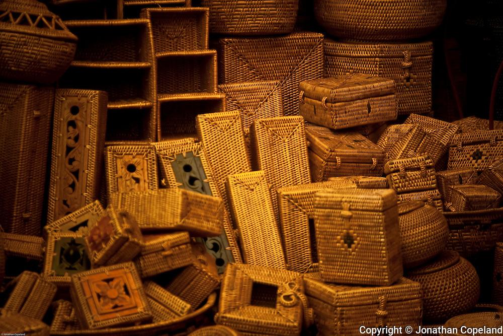 Baskets, Ubud Market, Bali, Indonesia.