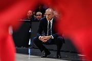 Ettore Messina<br /> A|X Armani Exchange Olimpia Milano - Germani Basket Brescia<br /> Basket Serie A LBA 2019/2020<br /> MIlano 29 September 2019<br /> Foto Mattia Ozbot / Ciamillo-Castoria