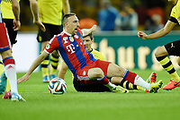 Fotball<br /> Tyskland<br /> 17.05.2014<br /> Foto: Witters/Digitalsport<br /> NORWAY ONLY<br /> <br /> v.l. Franck Ribery (Bayern), Milos Jojic<br /> <br /> Fussball, DFB-Pokal-Finale 2014, Borussia Dortmund - FC Bayern München