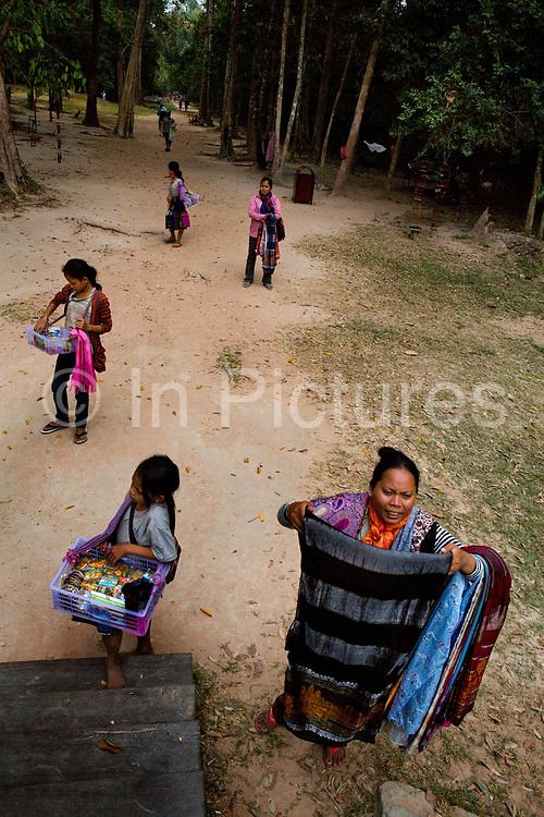 Vendors, Preah Khan, Angkor temple complex