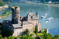 Historic  Burg Katz above River Rhine at St Goarhausen, Rhineland Palatinate Germany