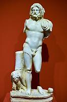 Turquie, province d'Izmir, ville de Selcuk, site archéologique d'Ephese, musée, statue de Zeus // Turkey, Izmir province, Selcuk city, archaeological site of Ephesus, museum, Zeus statue