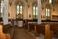 The interior of the newly renovated Sacred Heart Church in Laconia.  (Karen Bobotas/for the Laconia Daily Sun)