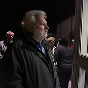 Candidate for Carolina Beach Mayor Dan WIlcox waits outside of the Carolina Beach Recreation Center in Carolina Beach. (Jason A. Frizzelle)