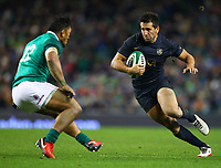 Rugby Union - 2017 Guinness Series (Autumn Internationals) - Ireland vs. Argentina<br /> <br /> Argentina's Santiago Gonzalez Iglesias in action against Ireland's Bundee Aki, at the Aviva Stadium.<br /> <br /> COLORSPORT/KEN SUTTON