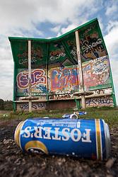 Graffiti in a park