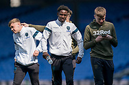 Leeds United U23 players arrive during the U23 Professional Development League match between U23 Crystal Palace and Leeds United at Selhurst Park, London, England on 15 April 2019.