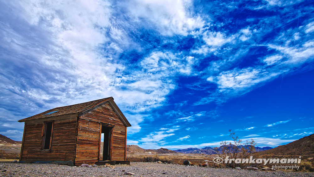 Full spectrum color images of Rhyolite Ghost Town in Rhyolite, NV on October 14, 2016.