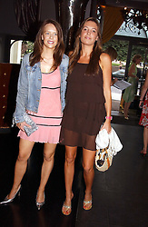 Left to right, MISS ARABELLA MUSGRAVE and MISS AMANDA SHEPPARD at Tatler Magazine's Summer Party held at the Baglioni Hotel, 60 Hyde Park Gate, London SW7 on 1st July 2004.