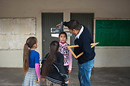 """Vicam, Sonora. Mexico: scuola primaria """"Felipe Matuz Cordova"""". Yaqui reserved land."""