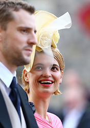 George Barnett and Pixie Geldof during the wedding of Princess Eugenie to Jack Brooksbank at St George's Chapel in Windsor Castle.