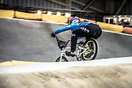 #100 (PAJON Mariana) COL during practice at the 2019 UCI BMX Supercross World Cup in Manchester, Great Britain