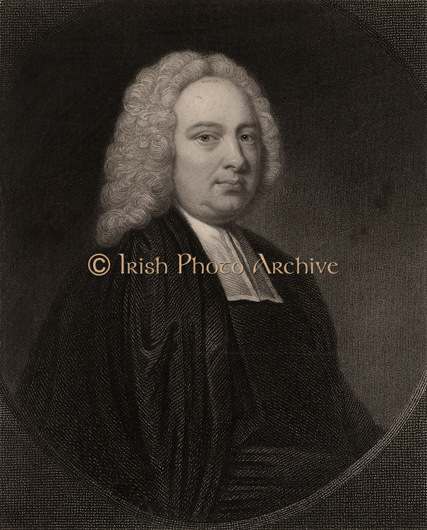 James Bradley (1692-1762) English astronomer, born at Sherborne, near Cheltenham, Gloucestershire. Appointed Savilian professor of astronomy at Oxford (1721).  As third Astronomer Royal (1742-1762) he followed Edmond Halley as director of the Royal Greenwich Observatory.  Bradley discovered the aberration of light. From 'The Gallery of Portraits', Vol VI, by Charles Knight (London, 1836). Engraving.
