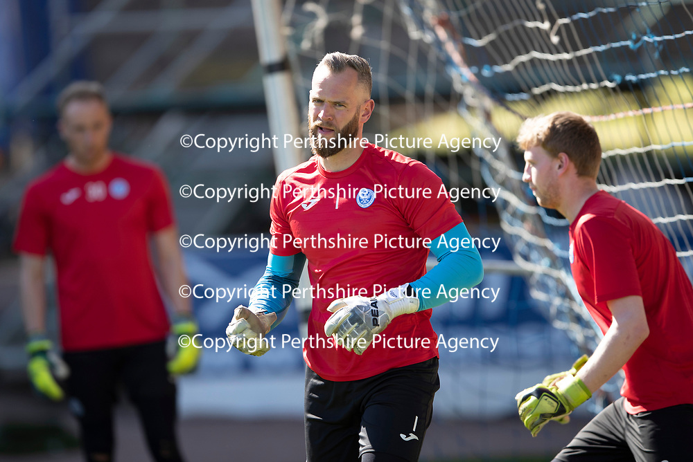 St Johnstone Training…10.05.18<br />Alan Mannus pictured during training before playing his final game for St Johnstone against Ross County<br />Picture by Graeme Hart.<br />Copyright Perthshire Picture Agency<br />Tel: 01738 623350  Mobile: 07990 594431