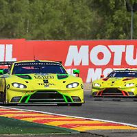 #97, Aston Martin Racing, Aston Martin Vantage AMR, LMGTE Pro, driven by: Alex Lynn, Maxime Martin, Jonathan Adam, FIA WEC 6hrs of Spa 2018, 05/05/2018,