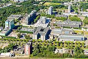 Nederland, Noord-Brabant, Eindhoven, 23-08-2016; overzicht campus Technische Universiteit Eindhoven (TU/e), voorheen Technische Hogeschool Eindhoven. Faculteiten onder andere Bouwkunde, Technologie, Industrial Engineering en Innovation Sciences. <br /> Campus Technical University campus in downtown Eindhoven (TU / e). Faculties include Architecture, Technology, Engineering and Industrial Innovation Sciences<br /> luchtfoto (toeslag op standard tarieven);<br /> aerial photo (additional fee required);<br /> copyright foto/photo Siebe Swart