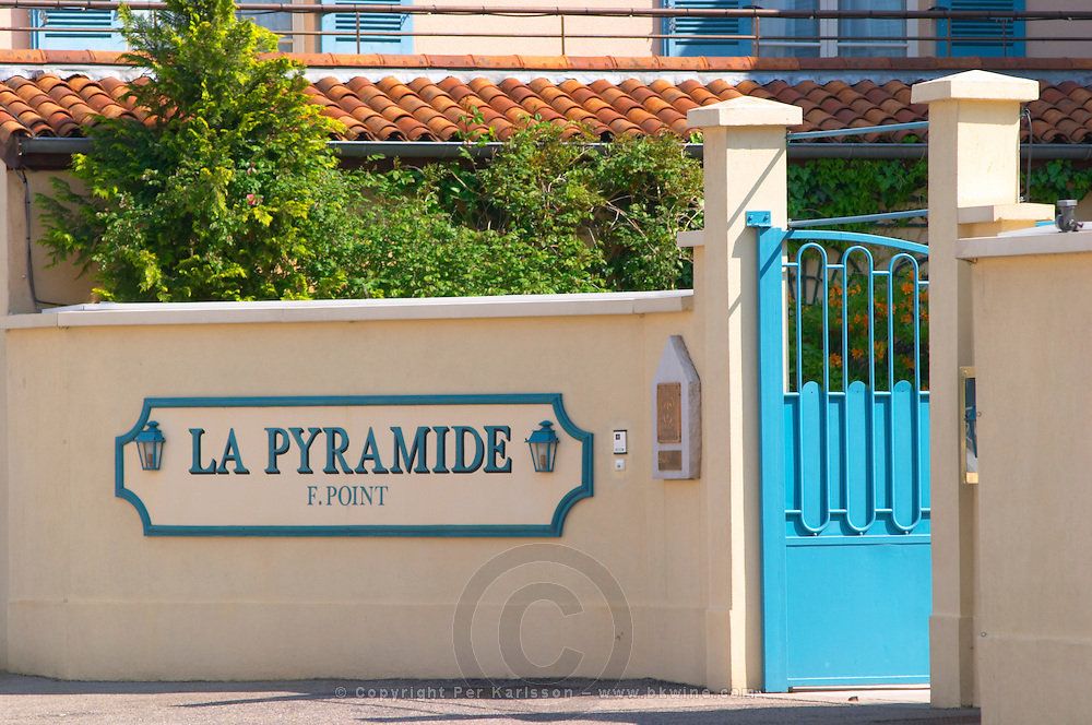 The La Pyramide restaurant and luxury hotel in Vienne, famous for having been the restaurant of Fernand Point.  Vienne, Isère Isere, France, Europe